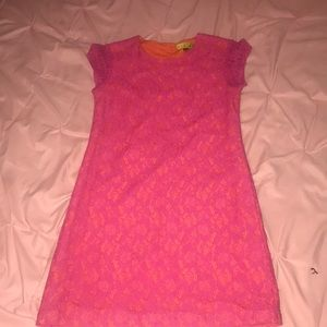 Pink and orange dress